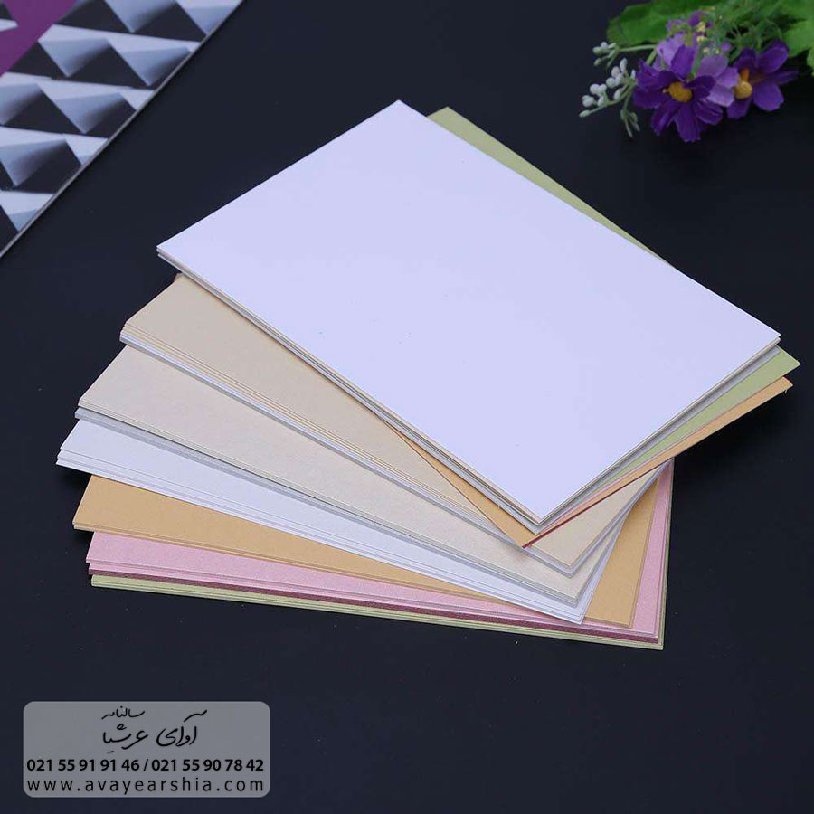 کاغذ کارتی یکی دیگر از انواع کاغذ های مورد استفاده در سررسید میباشد